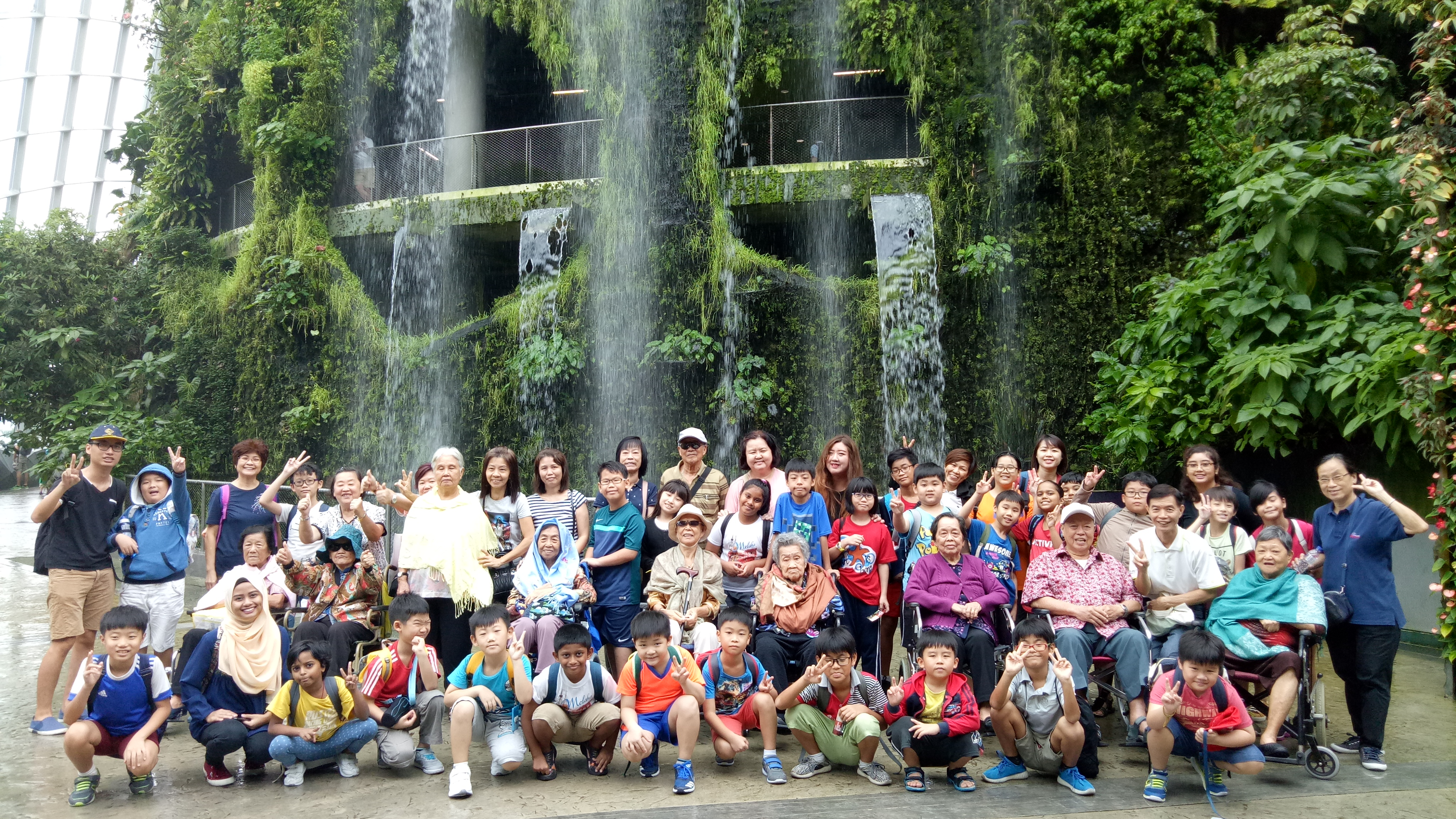 Inter-Generational Bonding - Outing to Gardens by the Bay (Group Pic)
