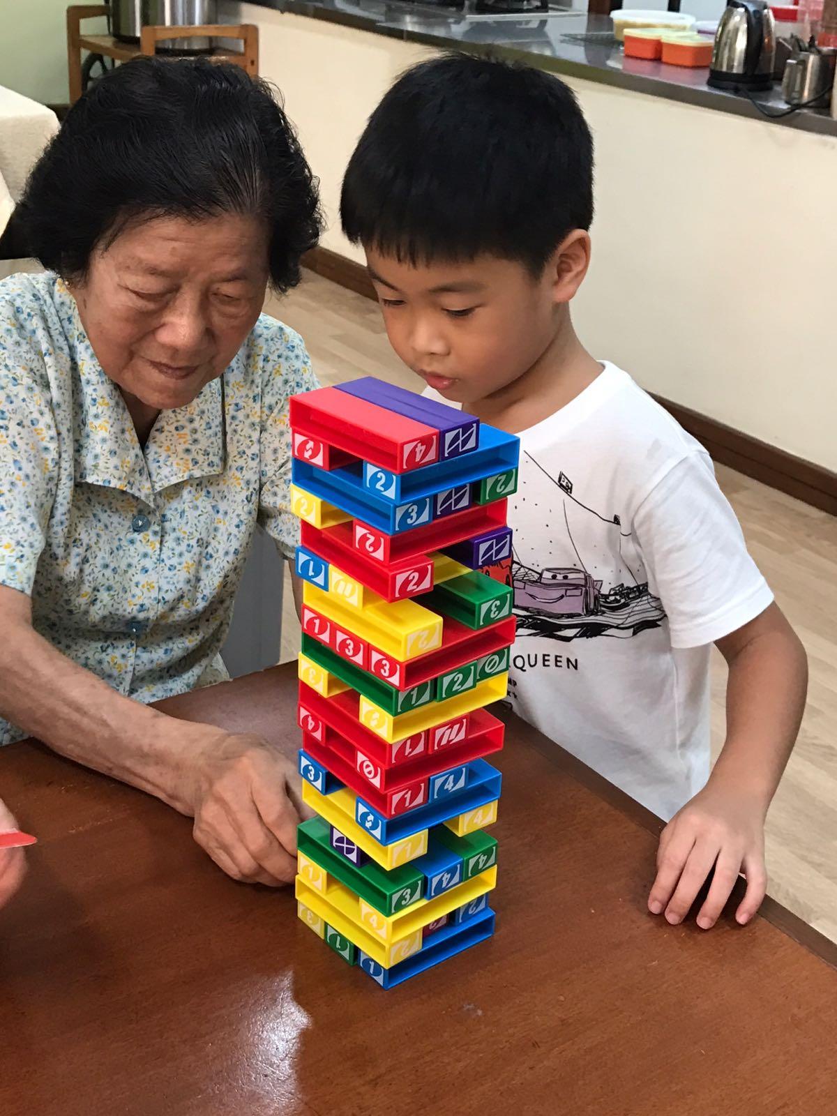 Inter-Generational Bonding - Play Jenga
